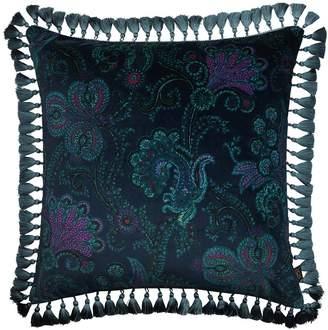 Large Palme Cashmir Cotton Velvet Pillow