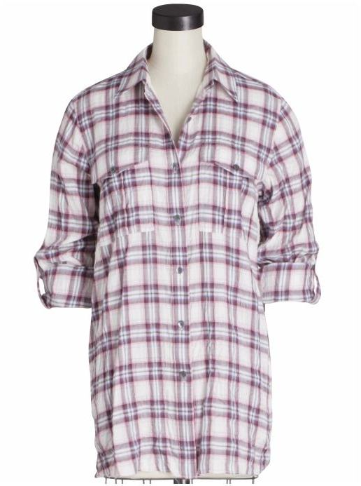 Theory Marosa Alamo Plaid Shirt