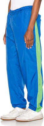 Comme des Garcons Mesh Pants in Blue & Green | FWRD