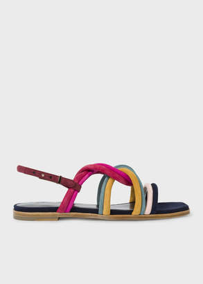 Paul Smith Women's Multi-Coloured Suede 'Carlin' Sandals