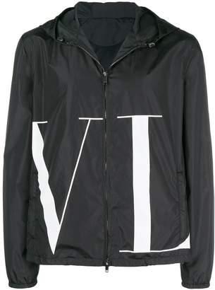 Valentino front logo jacket