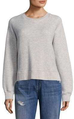 Current/Elliott Crewneck Inverted-V Sweatshirt