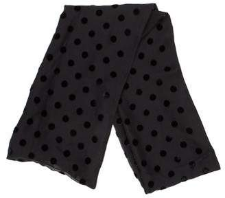 Wolford Silk Dot Pattern Scarf