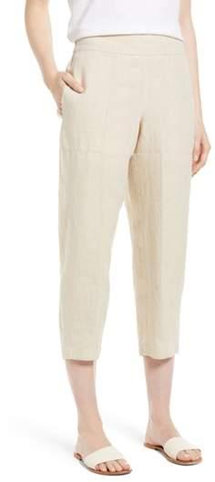 Organic Linen Crop Pants