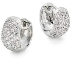 Saks Fifth Avenue Pavé Huggie Hoop Earrings