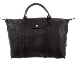 Longchamp Le Pliage Leather Satchel
