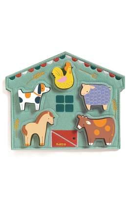 Djeco Relief Wooden Animal Puzzle