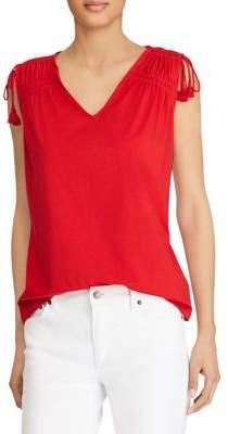 Lauren Ralph Lauren Tassel-Tie Jersey Top