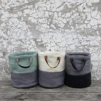 at Notonthehighstreet.com · Aura Que Fairtrade Handmade Felt Laundry  Storage Bucket Bag 327cb3a966555