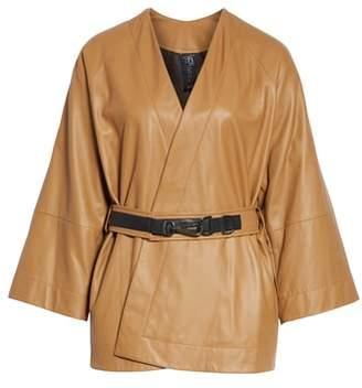 Zero Maria Cornejo Leather Wrap Jacket