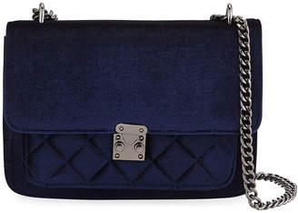 Jagger Kc Mila Velvet Quilted-Pocket Crossbody Bag
