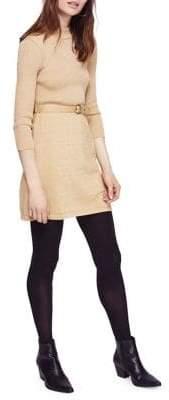 Free People French Girl Mini Sweater Dress