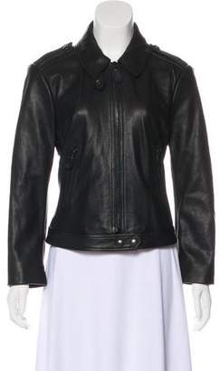 Burberry Leather Motto Jacket