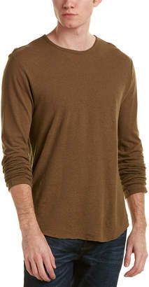 Vince Raw Edge Linen-Blend T-Shirt