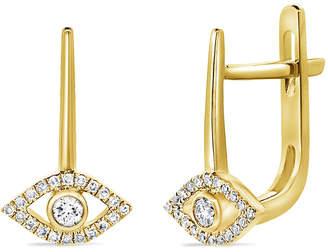 Sabrina Designs 14K 0.14 Ct. Tw. Diamond Evil Eye Earrings