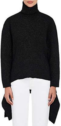 Balenciaga Women's Detached-Hem Turtleneck Sweater - Black