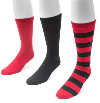 Muk Luks Adult Game Day 3-pk. Crew Socks