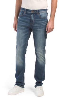 Slim Straight Whiskered Stretch Jeans