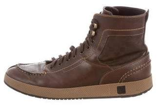 Louis Vuitton Damier Lace-Up Sneakers