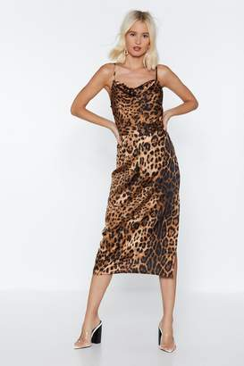 Nasty Gal If Not Meow Leopard Midi Dress