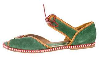 Marni Lace-Up Suede Sandals