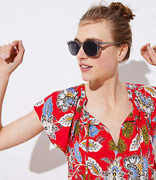 LOFT Clear Round Sunglasses