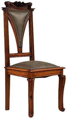 One Kings Lane Vintage Art Nouveau-style Side Chair - Castle Antiques & Design