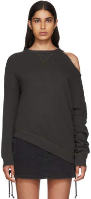 R 13 Black Distorted Sweatshirt