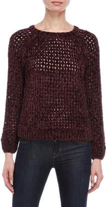 Cupio Open Knit Chenille Sweater