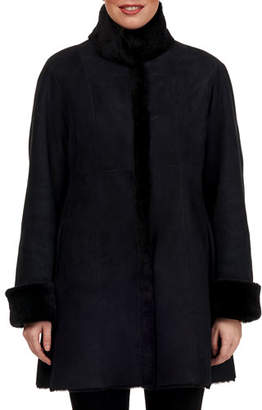 Gorski Reversible Lamb Shearling Stroller Coat