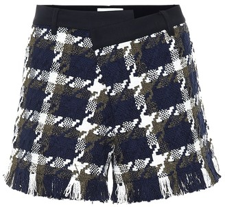 Monse Tweed and twill shorts