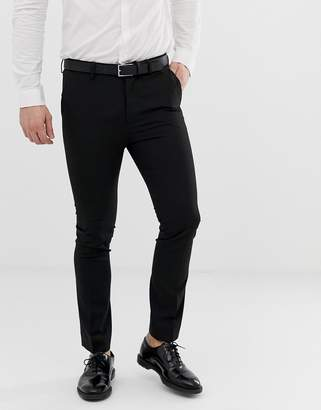 New Look skinny fit suit pants in black