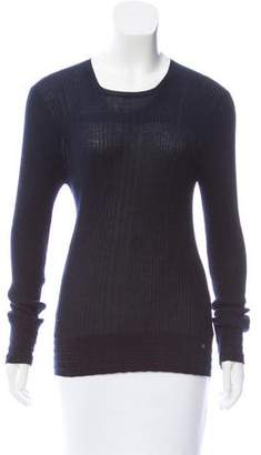 Chanel Cashmere-Blend Rib Knit Sweater
