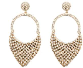 Forever 21 Rhinestone Chainmail Drop Earrings