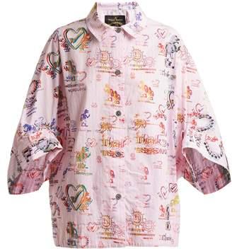 Vivienne Westwood Grateful-print cotton shirt