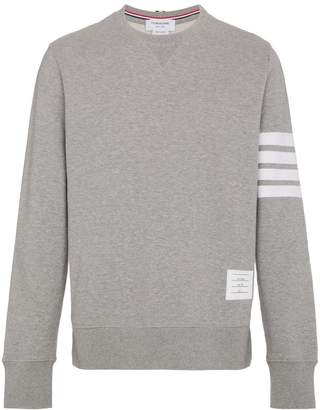 Thom Browne grey Classic Sweatshirt With Engineered 4-Bar In Classic Loop Back