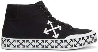 Off-White Black Vulcanised Arrows Mid-Top Sneakers