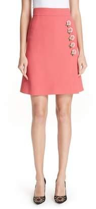 Dolce & Gabbana Rose Button Skirt