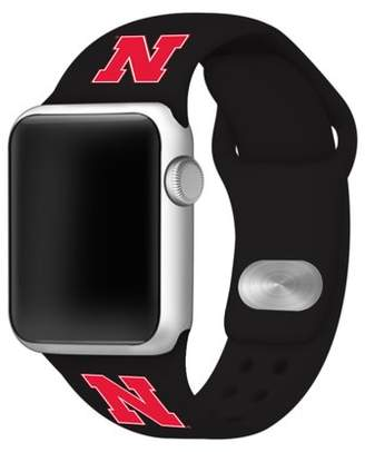 Affinity Bands Nebraska Huskers 38mm Black Silicone Sport Band for Apple Watches - BAND ONLY