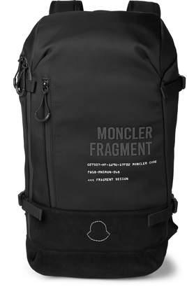 Moncler Genius - 7 Fragment Suede-Trimmed Shell Backpack - Men - Black