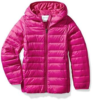 Amazon Essentials Big Girls' Lightweight Water-Resistant Packable Hooded Puffer Jacket