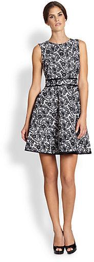 Cynthia Rowley Lace-Print Sleeveless Dress