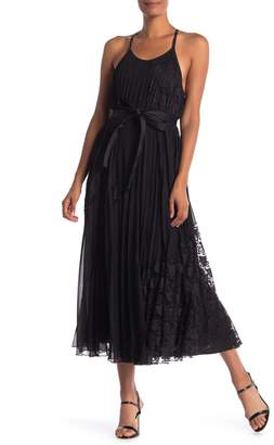 Derek Lam 10 Crosby Pleated Lace Detail Dress