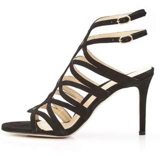 Marion Parke Lulu   Strappy Suede Mesh Stiletto Sandal