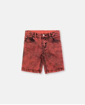 Stella McCartney Red Stone Washed Denim Shorts