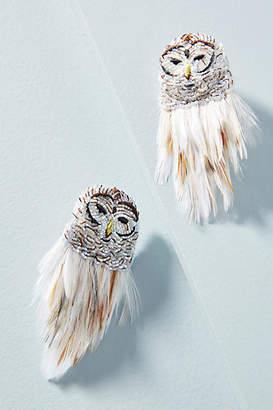 Mignonne Gavigan White Owl Earrings
