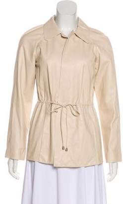 Lafayette 148 Open-Front Leather Jacket w/ Tags