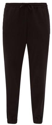 Wardrobe.Nyc Wardrobe.nyc - High Rise Drawstring Waist Cotton Track Pants - Womens - Black