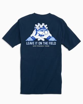Southern Tide Gameday Skipjack Gloves T-shirt - West Virginia University