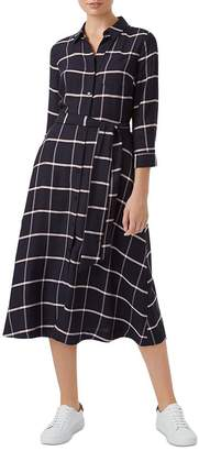 Hobbs London Hester Windowpane Shirt Dress